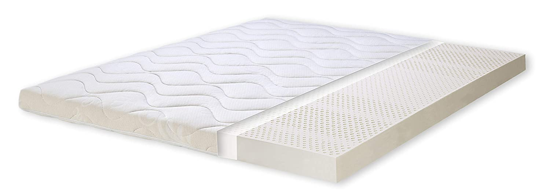 Primo Line Materasso Topper 160×200 Singolo in 80% Lattice Naturale – Altezza 8cm – 7 Zone – Rivestimento in Cotone Prezzi offerte