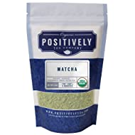 Positively Tea Company, Organic Japanese Matcha, Green Tea, Ceremonial Grade Powder, USDA Organic, 4 Ounce Bag