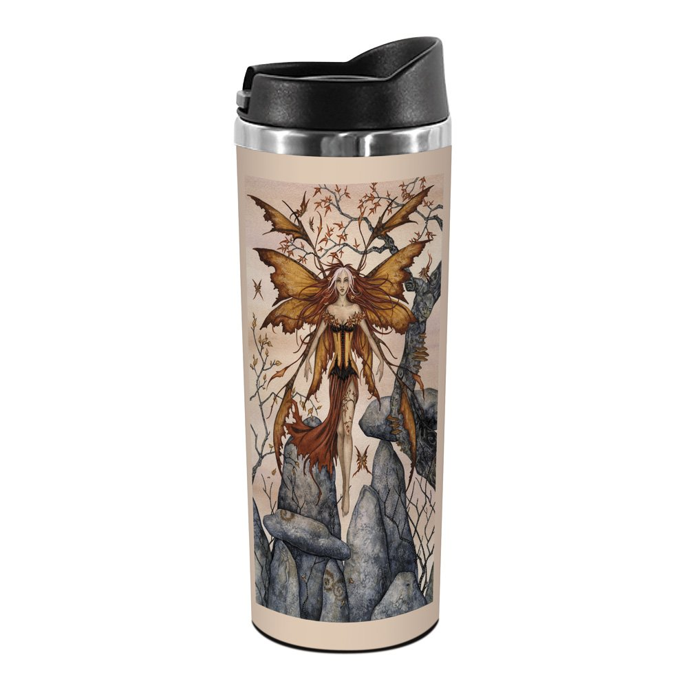 14-Ounce Tree-Free Greetings TT01602 Amy Brown Fantasy 18-8 Double Wall Stainless Artful Tumbler The Arrival Fairy