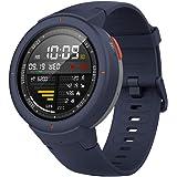 Amazfit Verge Smartwatch Montre Bracelet Tracker d'activité Fitness Podomètre GPS Nouvelle Génération Bleu Foncé