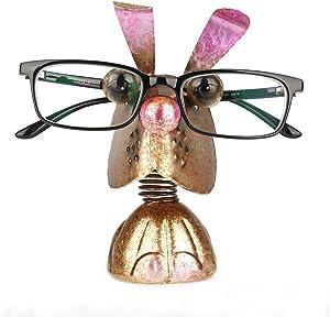 Mollytek Eyeglasses Spectacle Sunglasses Holder Display Stand Retainer Cute Rabbit Shaped Reading Glasses Holder for Men Women Home Office Desk Décor Car Ornament Birthday (Rabbit)
