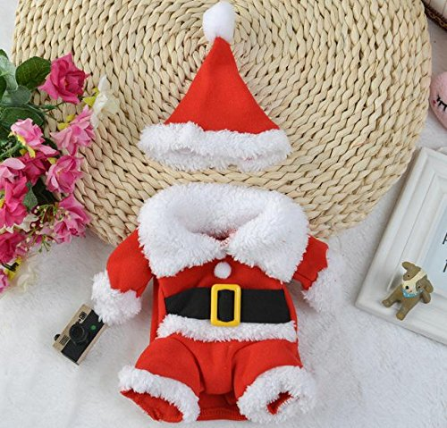 Cowmole Co. Christmas Cat Clothes Pet Dog Cat Costume Santa Claus Costume Winter Christmas Pet Coat Apparel Cotton Clothes for Cat Dog 27S2 ()