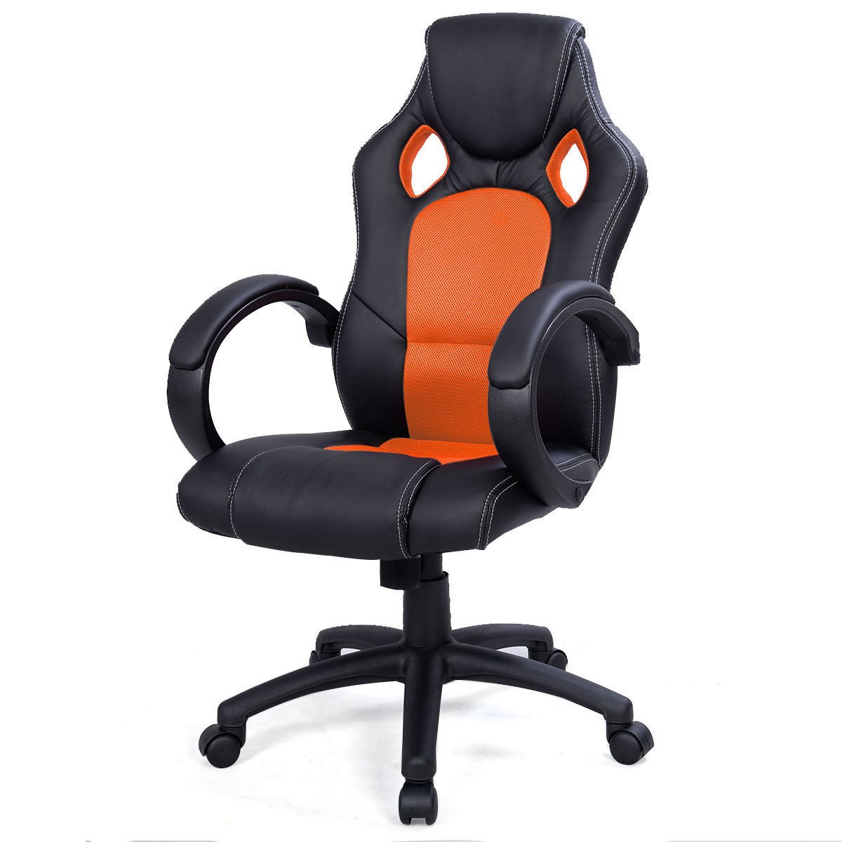 Back Race Car Style Bucket Seat Office Desk Chair Gaming Chair Orange