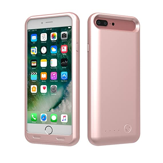 best authentic d2b7a 075bf TAMO EDGE 4000 mAh Dual-Purpose Ultra-Slim Protective Extended Battery  iPhone 7 Plus Case, Rose Gold (Premium Retail Packaging)