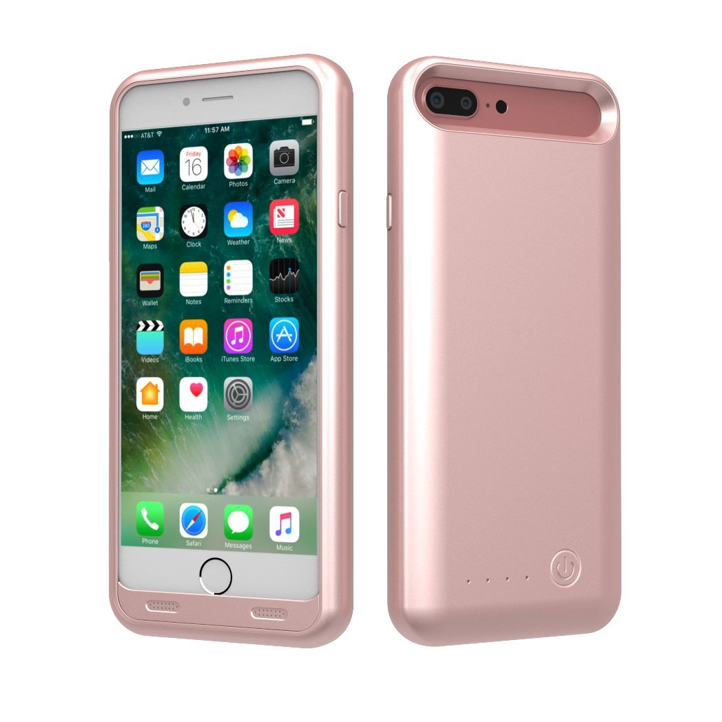 TAMO EDGE 4000 mAh Dual-Purpose Ultra-Slim Protective Extended Battery iPhone 7 Plus Case, Rose Gold (Premium Retail Packaging) by TAMO (Image #4)