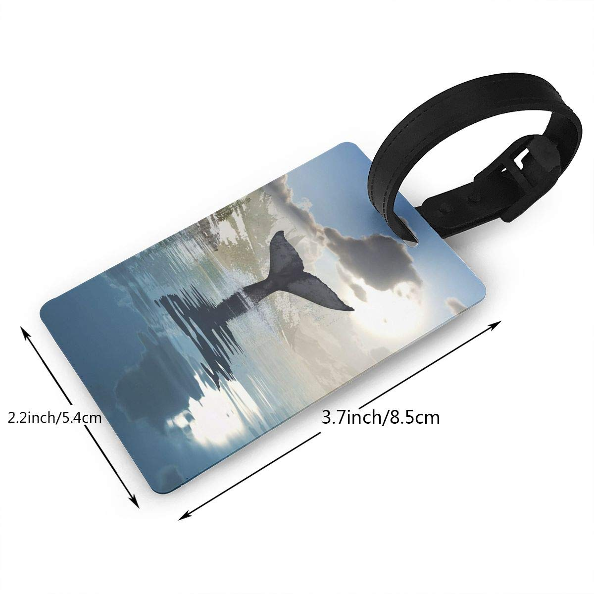 2 Pack Luggage Tags Whales Travel Tags For Travel Bag Suitcase Accessories