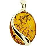InCollections Damen-Anhänger 333/000 Gold mit Bernstein 1000103175L100