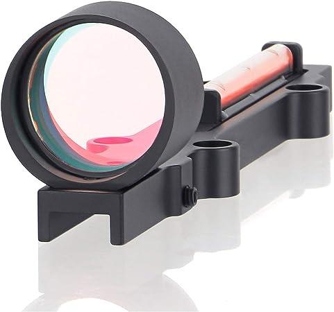 ToopMount 1X28 Mirino a Punto Rosso//Verde Cannocchiale Leggero Fucile da Caccia tattico in Fibra Ottica Completamente Rivestito con 3 MOA
