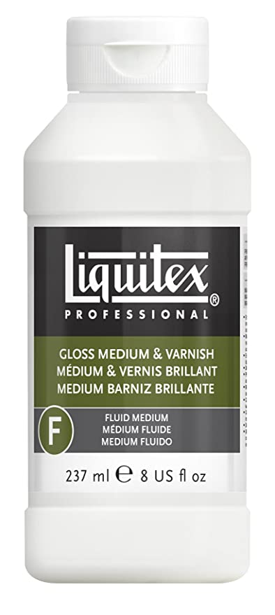amazon com liquitex gloss acrylic fluid medium and varnish 8 oz