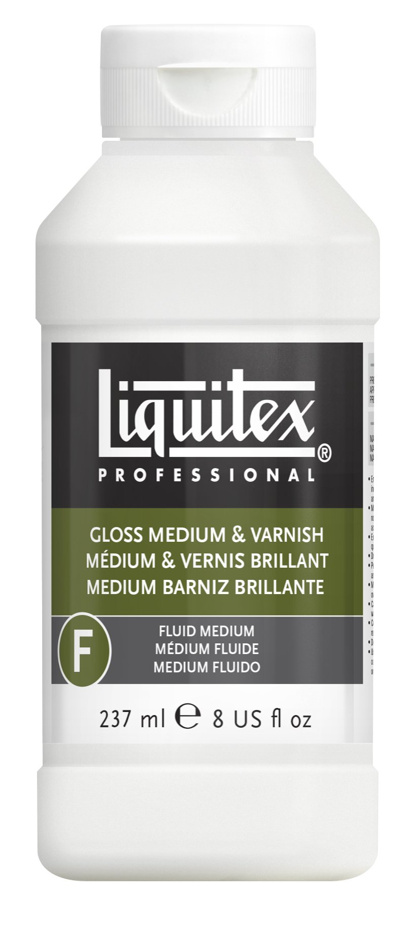 Liquitex 5008 Gloss Acrylic Fluid Medium and Varnish, 8-oz