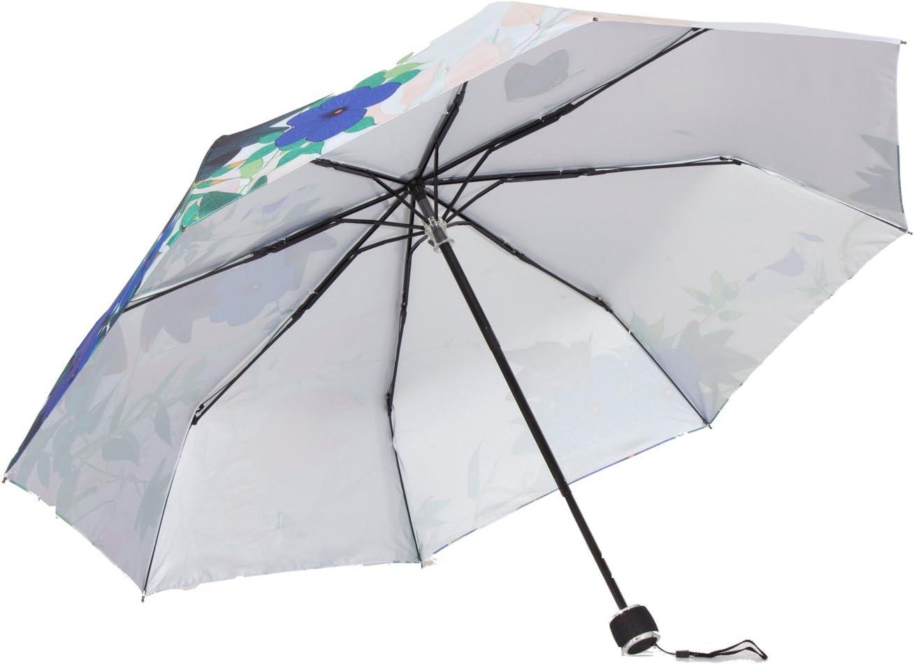 molshine Windproof Travel Umbrella-Compact Folding Lightweight Portable Parasol Umbrella for Women,Gift Choice butterfly