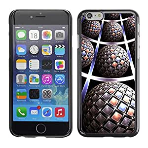 Planetar® ( Pattern 3D Art Globe Futuristic ) Apple (5.5 inches!!!) iPhone 6+ Plus / 6S+ Plus Fundas Cover Cubre Hard Case Cover