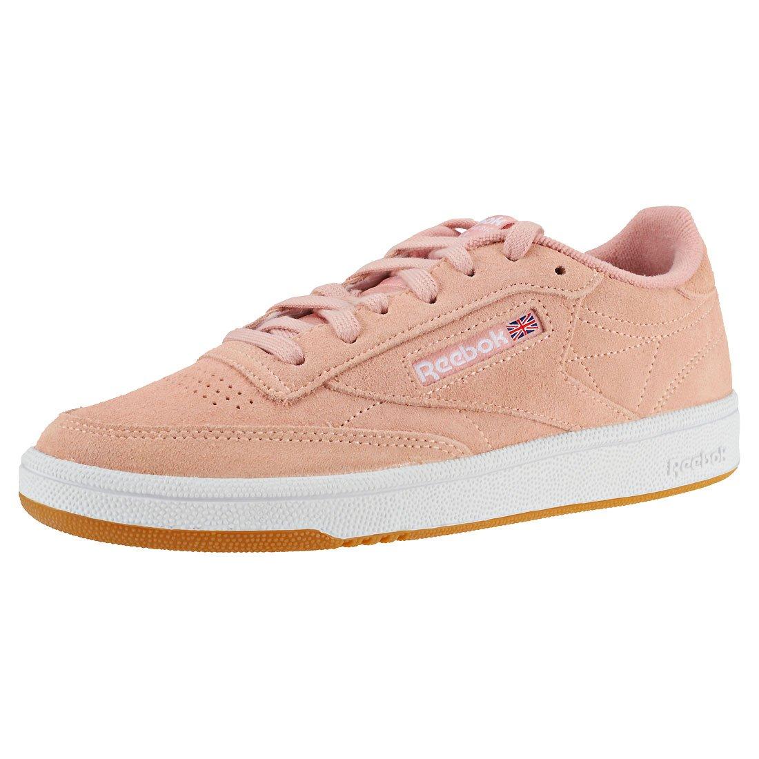 Reebok Damen 85 Club C 85 Damen Fitnessschuhe Mehrfarbig (Premim Basic 3/Peach Twist/Gum/Weiß 000) 580044