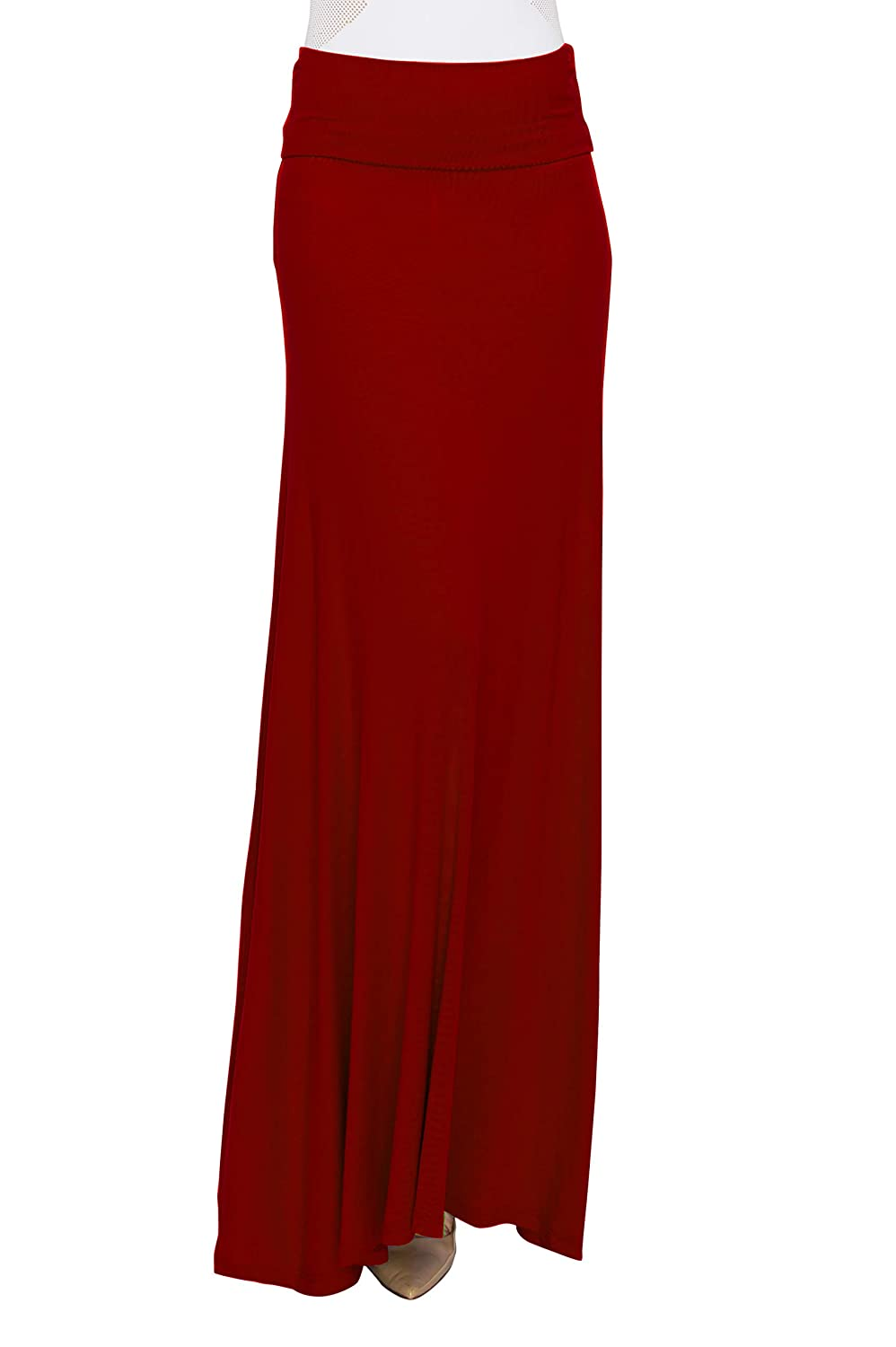 Made in USA MBJ Womens Lightweight Floor Length Maxi Skirt