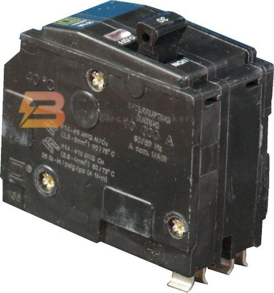 SQUARE D BY SCHNEIDER ELECTRIC QO 15-Amp Double-Pole Circuit Breaker QO215C