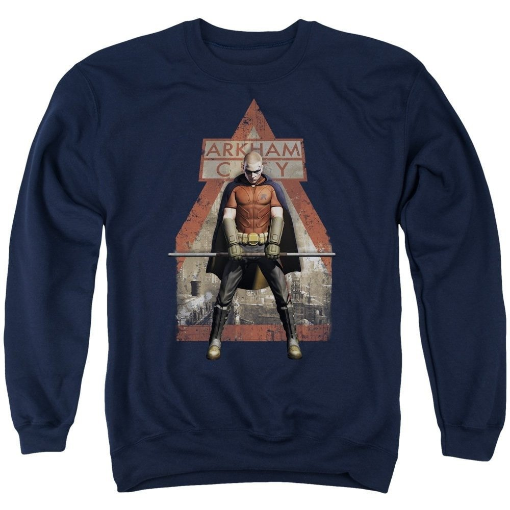 Arkham City Arkham Robin Adult Crewneck Sweatshirt