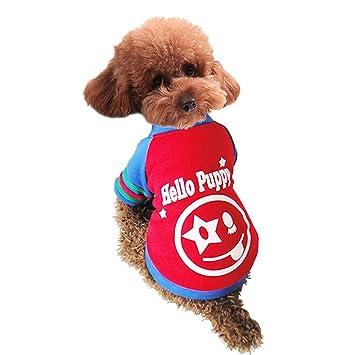 mangostyle mascota ropa para perro gato perrito sudaderas con capucha abrigo sudadera de invierno cálido abrigo ropa prendas de vestir: Amazon.es: Productos ...