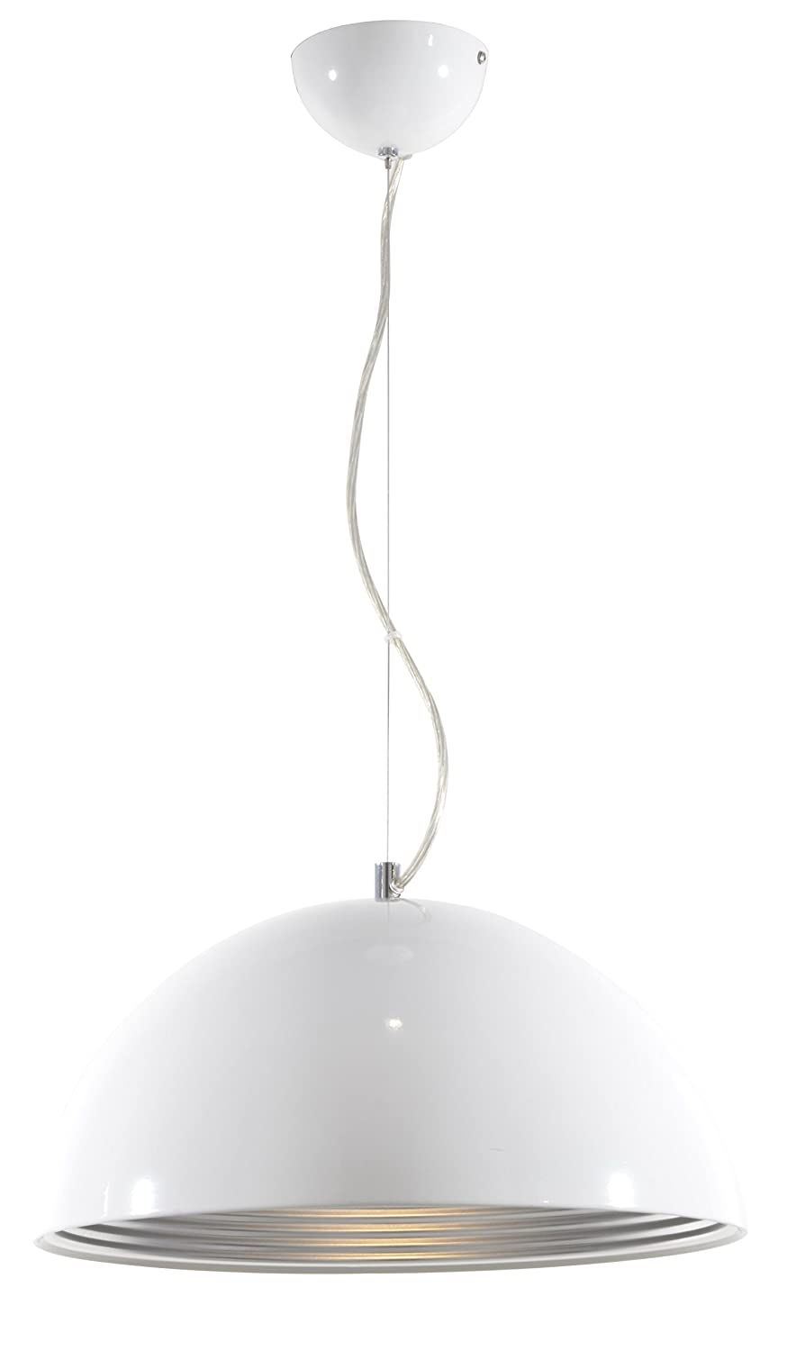 Lite Source LS-19747WHT Darielle Pendant with White Metal Shade