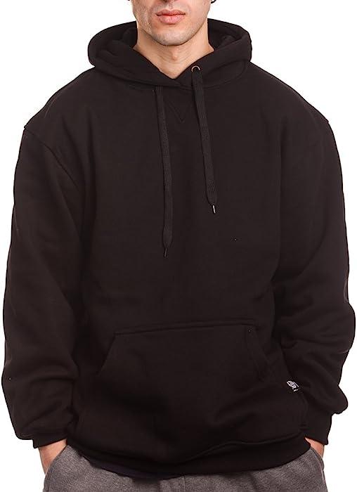 5becbada0e Amazon.com  PRO 5 Mens Heavy Weight Fleece Pullover Hoodie