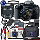 Canon EOS Rebel T7i EF-S 18-55 IS STM Kit + 2X32GB Card + Basic Photo Bundle