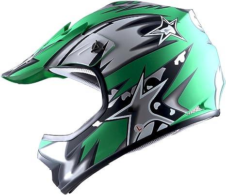 Helmets Wow Youth Kids Motocross Bmx Mx Atv Dirt Bike Helmet Star Matt Green Automotive Automotive Protective Gear
