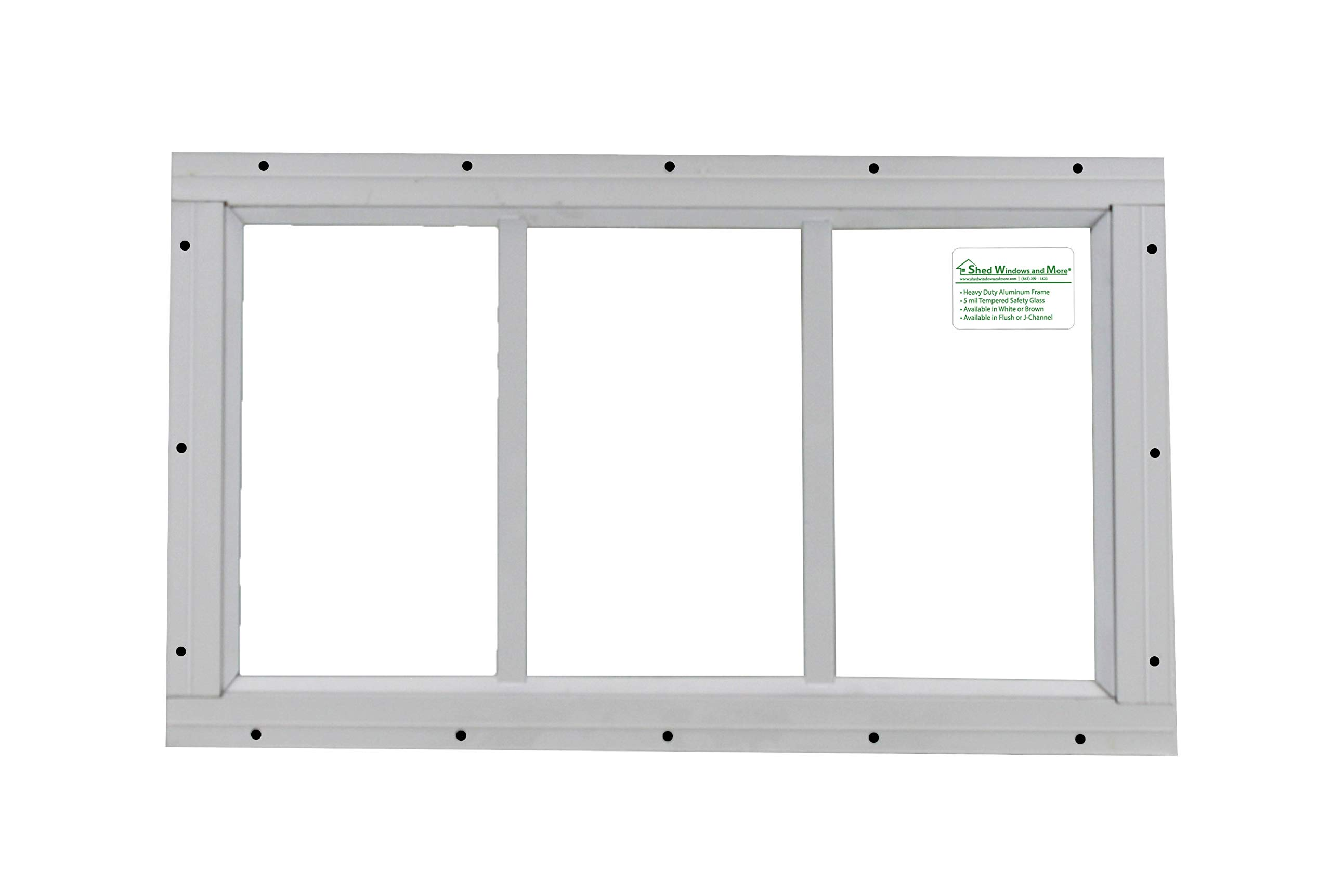 Shed Transom Window 10'' X 18'' White Flush Mount by Shed Windows and More