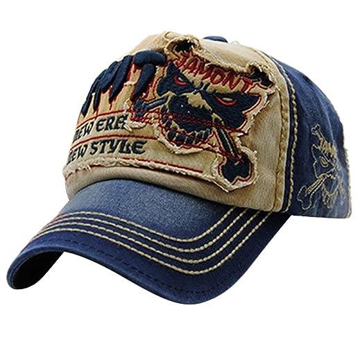 BCDshop Embroidered Summer Cap Hats Men Women Casual Cool Hats Hip Hop  Baseball Caps (A 9c9f7748349