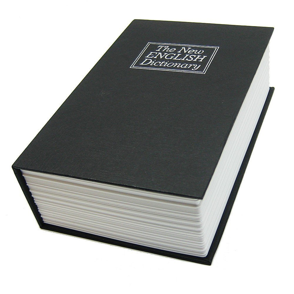 HOME Steel Dictionary Book Diversion Safe with Lock- The Most Realistic Looking Books Safe - Stash your Valuables in Plain Sight! Weed Out Thieves! Perfect for Homes, Boats, RV's