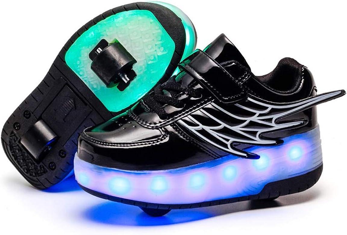 Color Ruedas Automática Ajustables Led Luces Zapatillas Con OiukXZTP