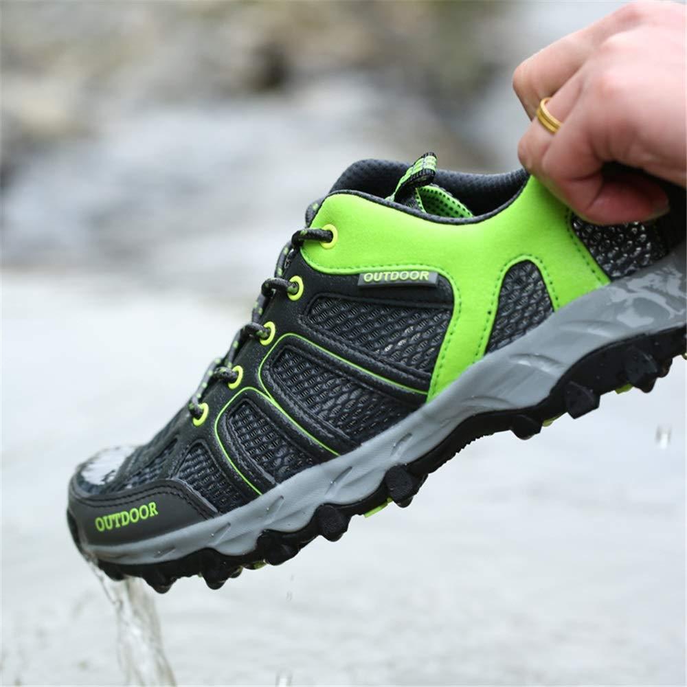 Mens schnüren Sich Oben Schuhe weiche Sohle Rutschfeste beiläufige Breathable Breathable Breathable Quick Dry Outdoor Trainer (Farbe   Schwarz, Größe   EU 46) 4bc4b2