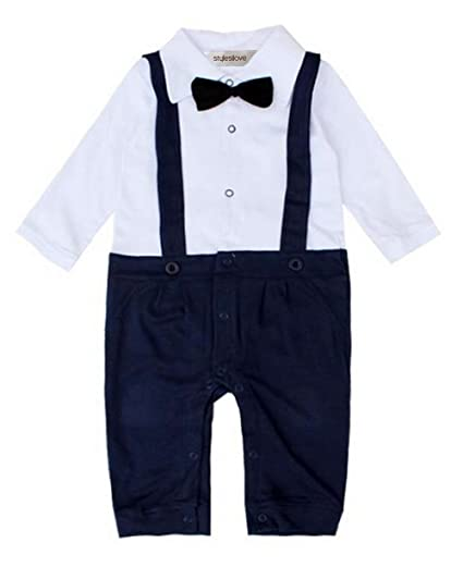 854c63ae6acb Amazon.com  StylesILove Infant Toddler Baby Boy Tuxedo Formal Wear ...