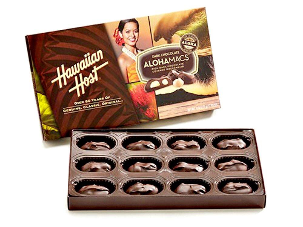 Hawaiian Host Alohamacs Dark Chocolate Covered Macadamia Nuts (6 oz Boxes) (2 Boxes) by Hawaiian Host (Image #2)