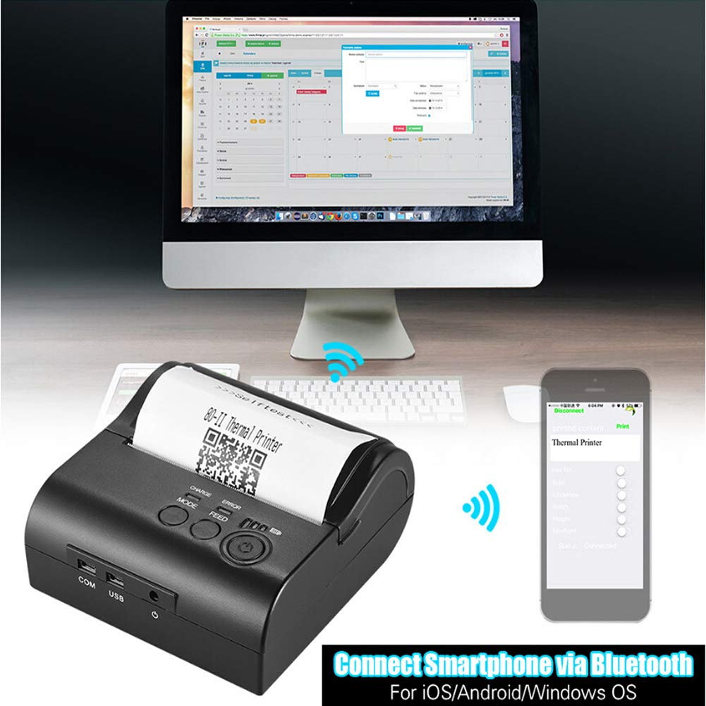 Amazon.com : Portable Bluetooth Printer, Thermal Label ...