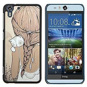 Stuss Case / Funda Carcasa protectora - Ponytail Cat Beige robe douce - HTC Desire Eye M910x