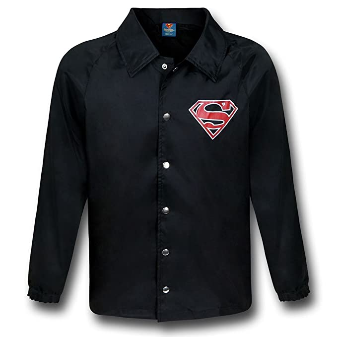 Amazon Superman Symbol Black Windbreaker Small Clothing