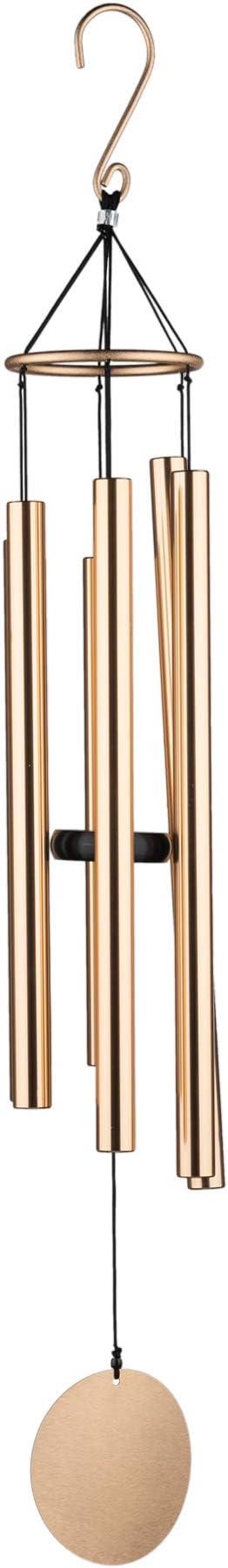 Argento OSVINO Campane a Vento Decorazione Grande Metallo per Giardino Fenster 110cm Lunghezza