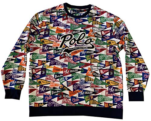 - Polo Ralph Lauren Men's Art Deco Big Tall Long Sleeve Crewneck Sweatshirt (2XLT)