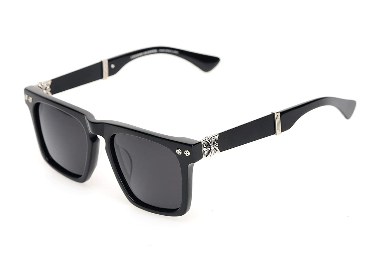 Wkaijc Männer Und Frauen Retro Quadratisch Polarisation Farbfilm Mode Persönlichkeit Sonnenbrillen Sonnenbrillen,C