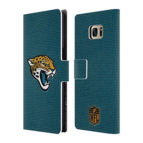 [Official NFL Football Jacksonville Jaguars Logo Leather Book Wallet Case Cover For Samsung Galaxy S7 edge] (Jacksonville Jaguars Cover)
