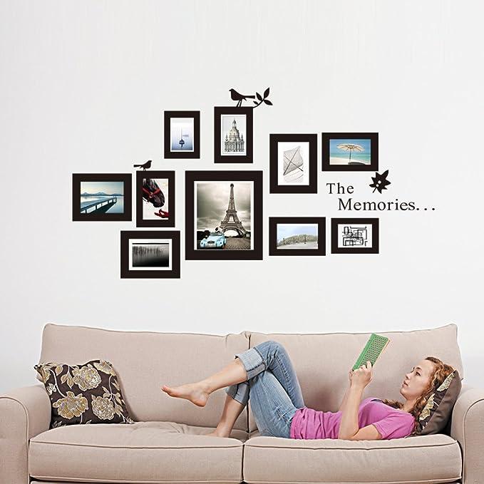 Adhesivo decorativo para pared marco de fotos marco de fotos diferentes características del marco decorativo para cuarto de estar
