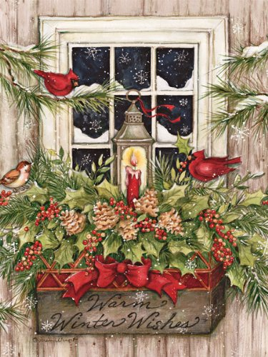 lang 1004688 window box snow boxed christmas cards artwork by