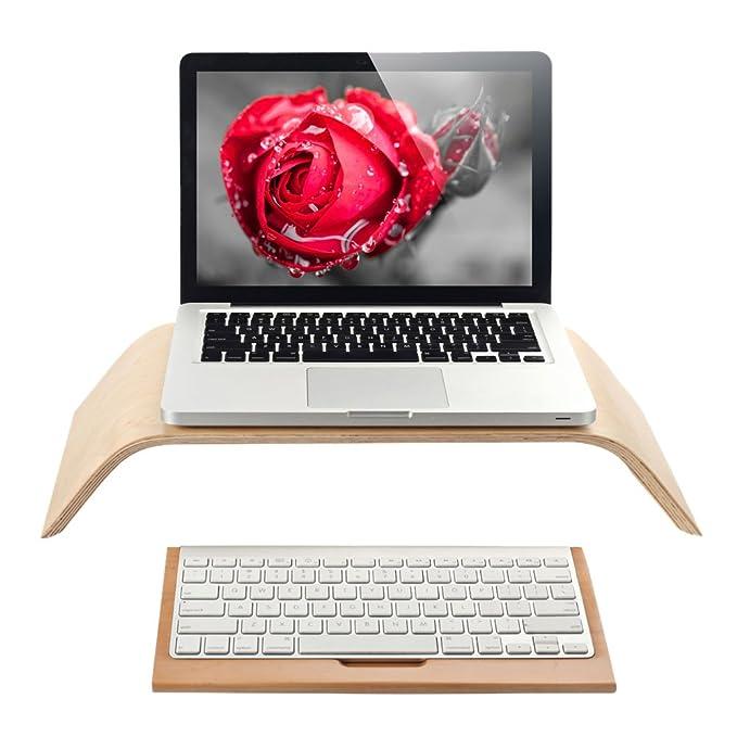 Samdi - Soporte universal para ordenador portátil, negro, White birch wood: Amazon.es: Instrumentos musicales
