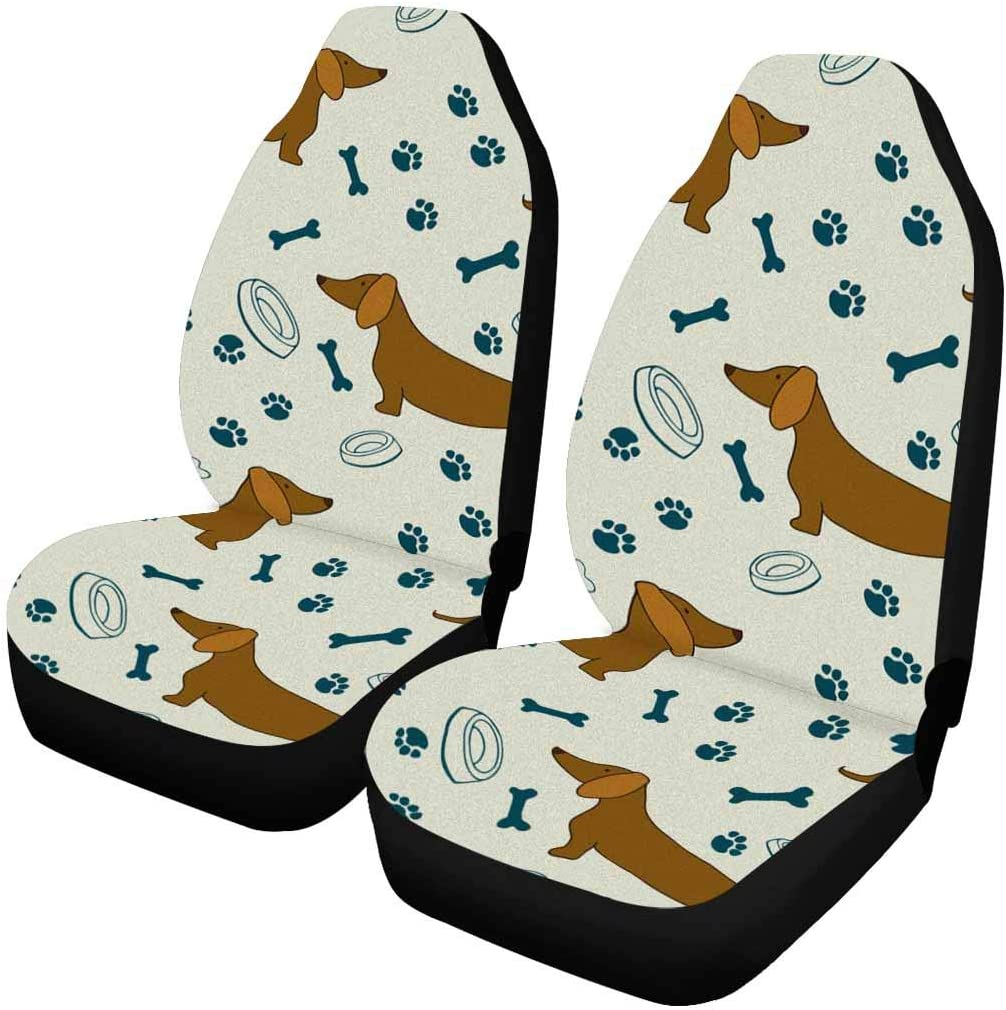 INTERESTPRINT Wise As an Owl Wild As Raccoon Car Seat Cover Front Seats Only Full Set of 2 Truck Car Front Seat Cushion Fit Car SUV or Van