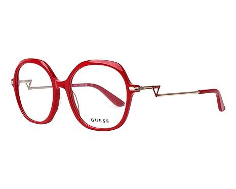 bd3910111e Guess Lunettes de vue pour femme Rouge GU 2702 066 54/17: Amazon.fr ...