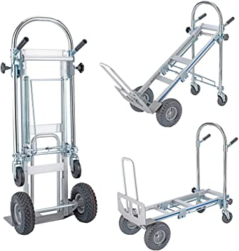 Amazon Com Henf 3 In 1 Convertible Hand Truck 770 Lb Capacity Portable Climbing Cart Folding Handtruck Cart Trolley Utility Cart With Wheels For Luggage Personal Travel Moving And Office Use Office Products