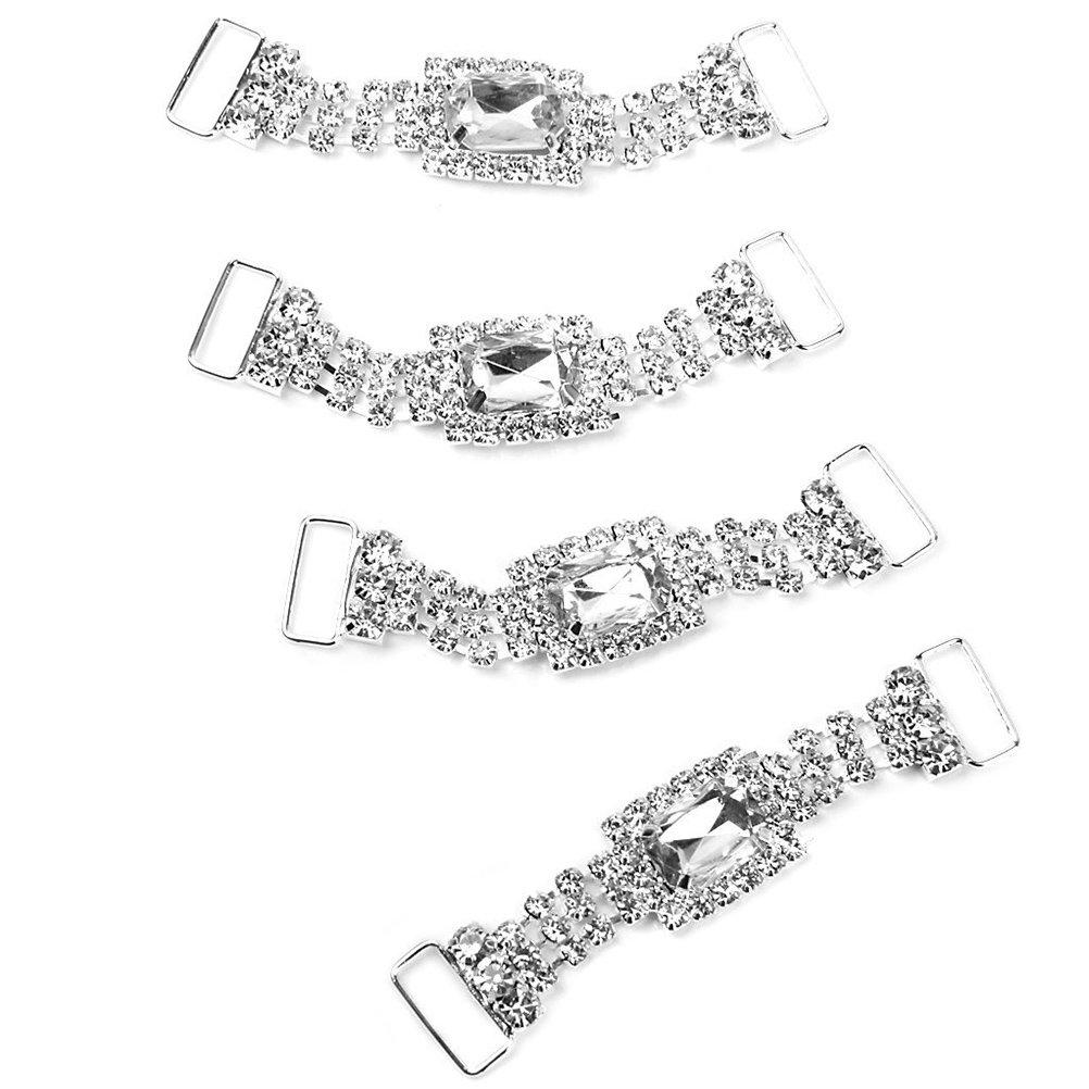 LEORX Anelli Portatovagliolo 4pcs delicato affascinante tovagliolo catene portatovaglioli