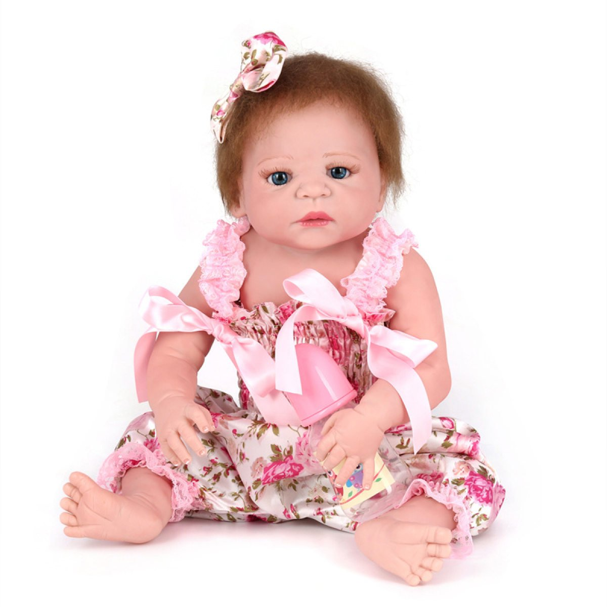 YIHANG Reborn Baby Dolls Handmade Lifelike Realistic Silicone Vinyl Baby Doll Soft Simulation 22 Inch 55 Cm Eyes Open Girl Favorite Gift Yihang Processing plant