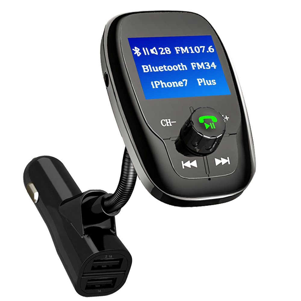 bluetooth fm transmitter auto mp3 player 2 usb stick kfz. Black Bedroom Furniture Sets. Home Design Ideas