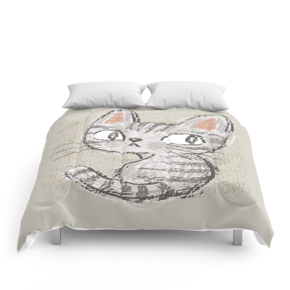 Society6 Cat Comforters King: 104'' x 88''
