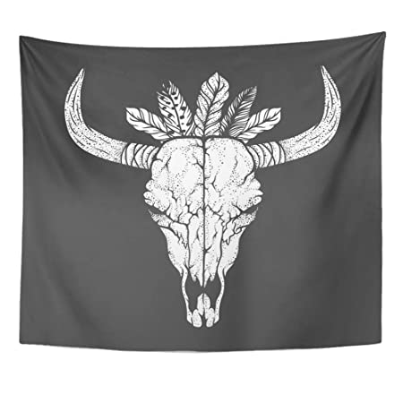Soefipok Tapiz Mandala Decoración para el hogar Cráneo de Toro con ...